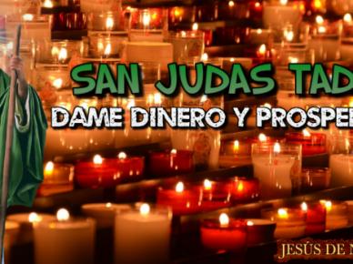 TE INVOCO SAN JUDAS TADEO, DAME DINERO Y PROSPERIDAD